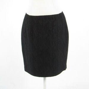 Tahari black textured  pencil skirt 8